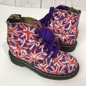Dr Martens | Purple Union Jack flag boots kids 4